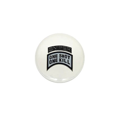 Sniper: One Shot/One Kill Mini Button (10 pack)
