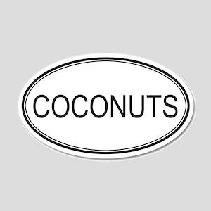 COCONUTS (oval) 20x12 Oval Wall Peel