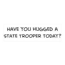Hugged a State Trooper 36x11 Wall Peel