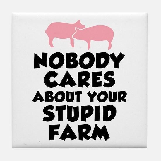 Stupid Farm - Pigs Tile Coaster