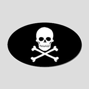 Pirate Flag vinyl sticker (Oval)