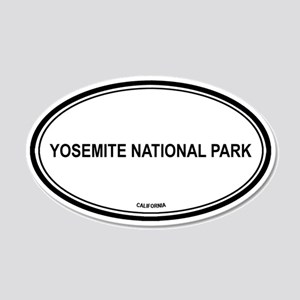 Yosemite National Park oval 20x12 Oval Wall Peel