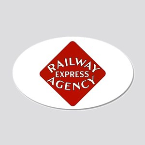 Railway Express Color Logo 20x12 Oval Wall Peel