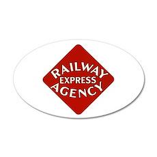 Railway Express Color Logo 20x12 Oval Wall Peel