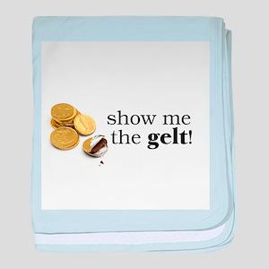 Show me the money..Gelt! baby blanket