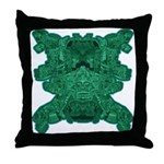 Jade Skull Throw Pillow