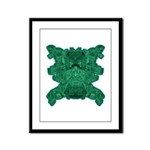 Jade Skull Framed Panel Print