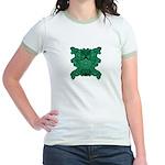 Jade Skull Jr. Ringer T-Shirt