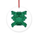 Jade Skull Ornament (Round)