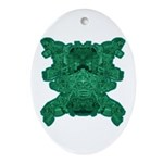 Jade Skull Ornament (Oval)