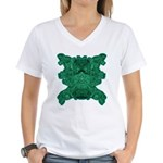 Jade Skull Women's V-Neck T-Shirt