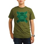 Jade Skull Organic Men's T-Shirt (dark)