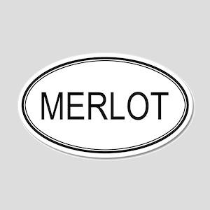 MERLOT (oval) 20x12 Oval Wall Peel