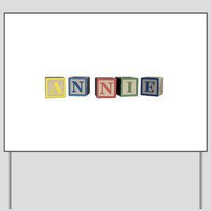 Annie Alphabet Block Yard Sign