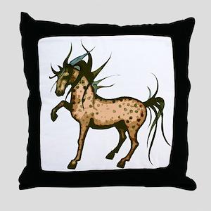 Wild Mane Appaloosa Throw Pillow
