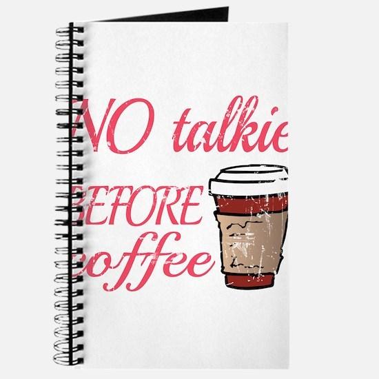 No Talkie Before Coffee Journal
