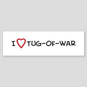 I Love Tug-of-war Bumper Sticker