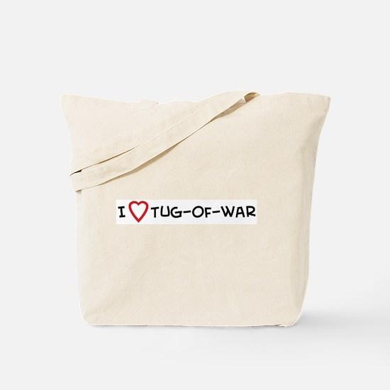 I Love Tug-of-war Tote Bag