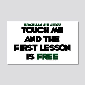Touch me & the 1st lesson is free Sticker (Rectang