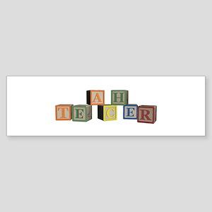 Teacher Alphabet Block Sticker (Bumper)