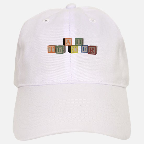 Teacher Alphabet Block Baseball Baseball Cap