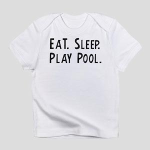 Eat, Sleep, Play Pool Creeper Infant T-Shirt