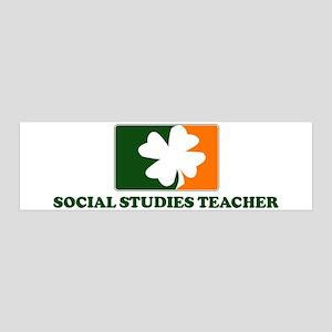 Irish SOCIAL STUDIES TEACHER 36x11 Wall Peel