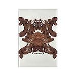 Golden Mask Rectangle Magnet