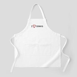 I Love Tennis BBQ Apron