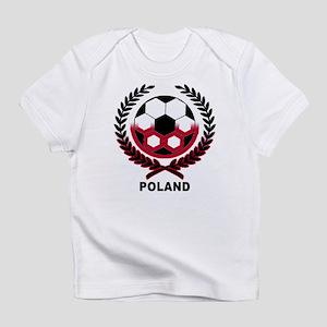 Poland World Cup Soccer Wreath Creeper Infant T-Sh