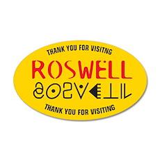 Roswell Logo Merchandise 20x12 Oval Wall Peel