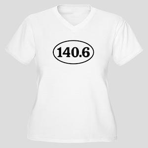 140.6 Triathlon Oval Women's Plus Size V-Neck T-Sh