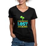Ends Once Women's V-Neck Dark T-Shirt