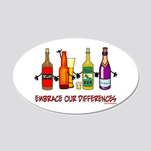 Embrace Our Differences 20x12 Oval Wall Peel