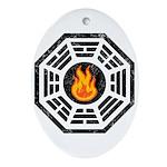 Dharma Flame Ornament (Oval)
