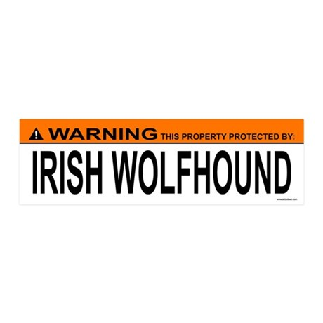 IRISH WOLFHOUND 20x6 Wall Peel