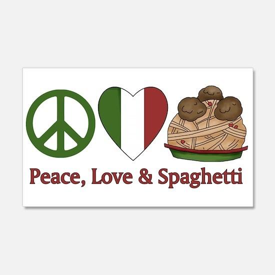 Peace, Love & Spaghetti 20x12 Wall Peel