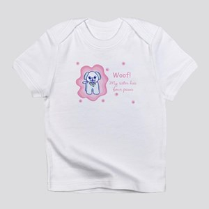My Sister Has Four Paws Infant T-Shirt