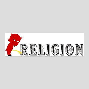 Piss On Religion 36x11 Wall Peel