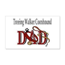 Treeing Walker Coonhound 20x12 Wall Peel