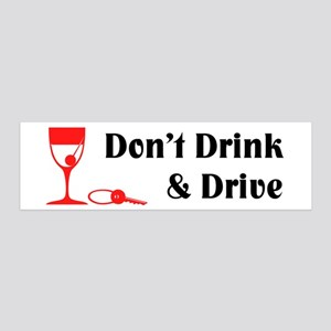 Don't Drink and Drive 36x11 Wall Peel