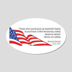 Don't sacrifice Liberty - 20x12 Oval Wall Peel