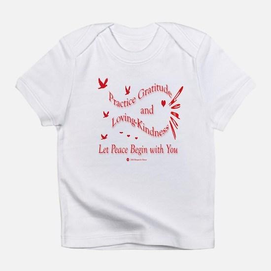 Gratitude and Loving-Kindness Creeper Infant T-Shi