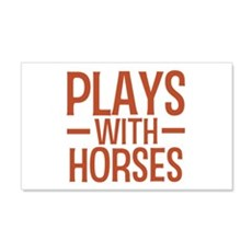 PLAYS Horses 20x12 Wall Peel