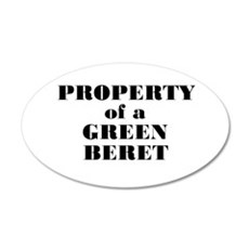 Property of a Green Beret 20x12 Oval Wall Peel