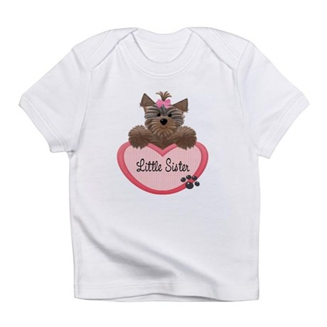 Little Sister Yorkie Heart Baby/Toddlers Infant T-
