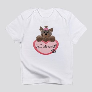 Am I Cute or What? Yorkie Heart Babys Infant T-Shi