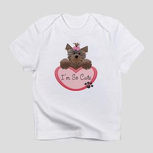 I'm So Cute! Yorkie Heart Baby/Toddler Infant T-Sh