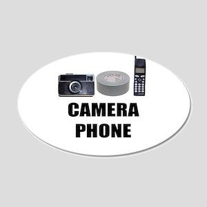 Camera Phone 20x12 Oval Wall Peel