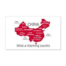 China, no ordinary polluter 20x12 Wall Peel